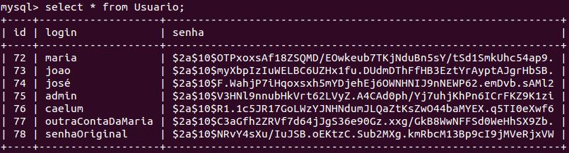 Banco de dados criptografado