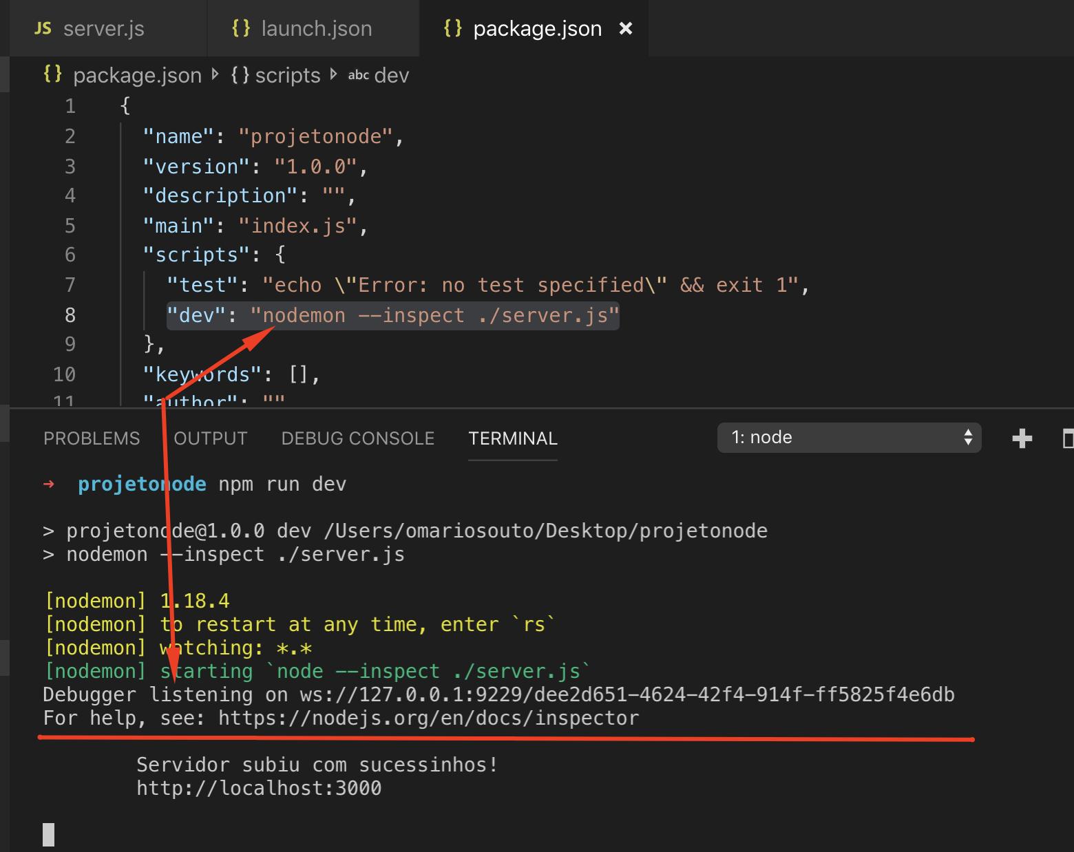Debugando projetos NodeJS no VSCode | Alura Cursos Online
